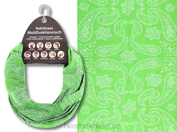 Multifunkční šátek zelený b9c246e39a